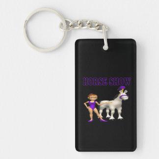 Horse Show 2 Double-Sided Rectangular Acrylic Keychain