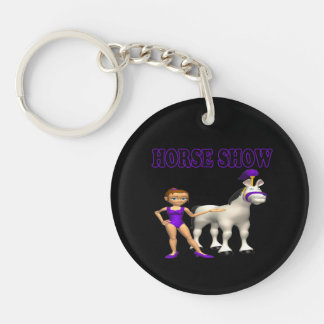 Horse Show 2 Single-Sided Round Acrylic Key Ring