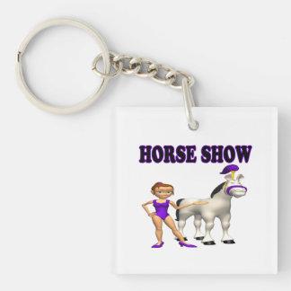 Horse Show 2 Single-Sided Square Acrylic Key Ring