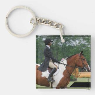 horse-show-40 Single-Sided square acrylic key ring