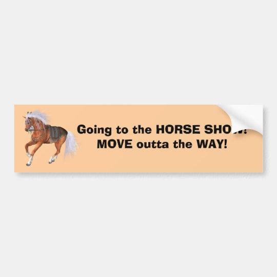 Horse Show Bumper sticker