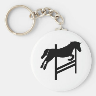 Horse - Show Jumping Key Chain