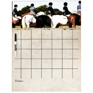Horse Show Line Up Dry Erase Board