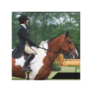 Horse Show Ring Canvas Print