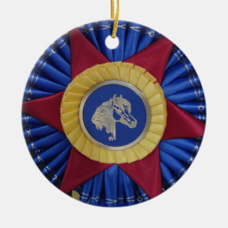 Horse Show Rosette Christmas Tree Ornaments