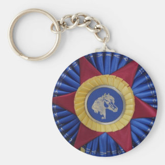 Horse Show Rosette Keychain