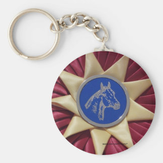 Horse Show Rosette Keychains