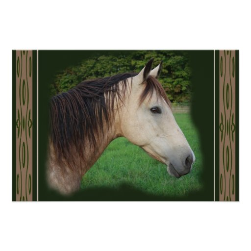 Horse side view print