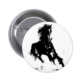 Horse Silhouette 6 Cm Round Badge