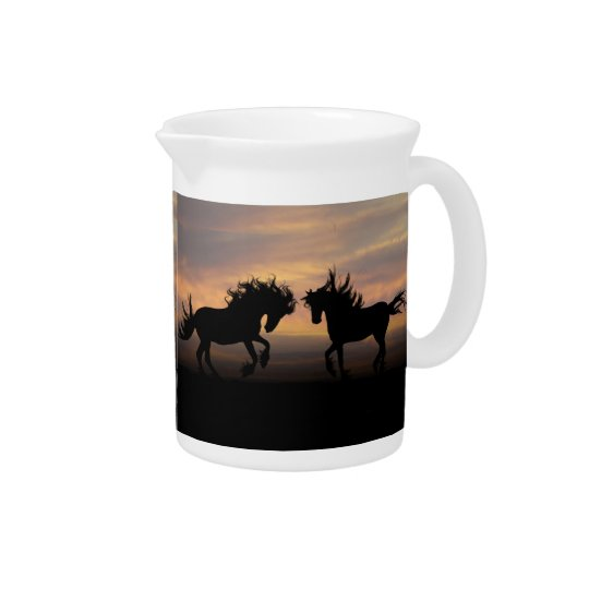 Horse Silhouette Beverage Pitcher