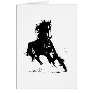 Horse Silhouette Cards