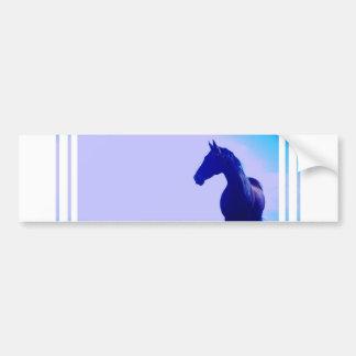 Horse Silhouette Design Bumper Sticker Car Bumper Sticker