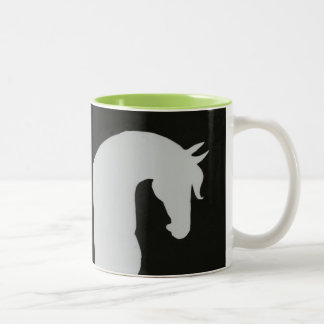 Horse Silhouette Mug With Pop of Color!