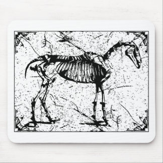 Horse Skeleton black and white Mouse Mat