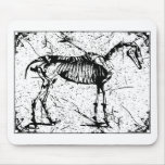 Horse Skeleton black and white Mouse Pad