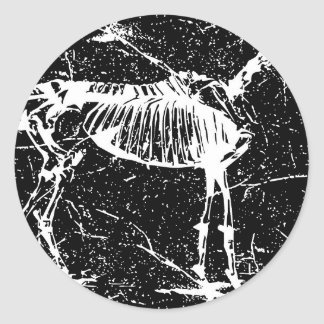 Horse skeleton white sticker
