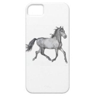 Horse Sketch Black And White iPhone 5 Case