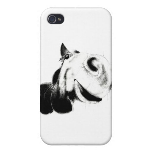 Horse Sketch iPhone 4 Cover