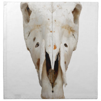horse skull napkin