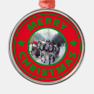 Horse sleigh Christmas tree Christmas Ornament