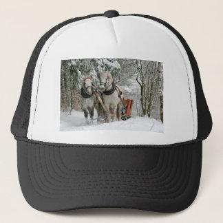 Horse Sleigh Trucker Hat