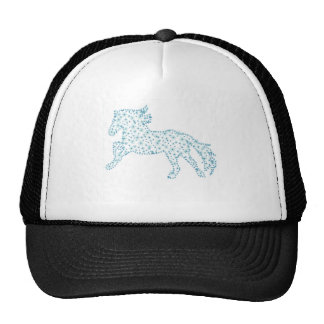 Horse snowflake new year  , white snowstorm cap