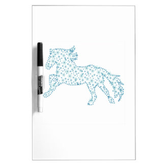 Horse snowflake new year  , white snowstorm dry erase board