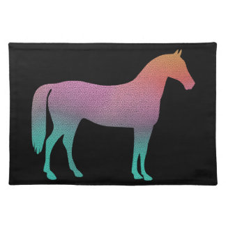 Horse stained glass placemats