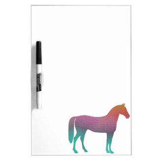 Horse stained glass dry erase board