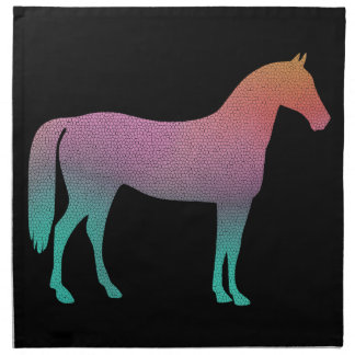 Horse stained glass napkin