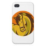 horse stallion head retro iPhone 4 cover