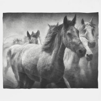 Horse Stampede Fleece Blanket