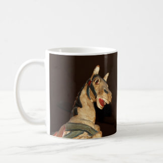 Horse Statue and Decor at Mexican Restaurant Basic White Mug