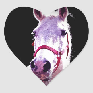 Horse Heart Stickers