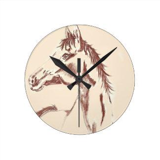 HORSE STUDY WALL CLOCK