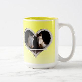 Horse Sweethearts Two-Tone Mug