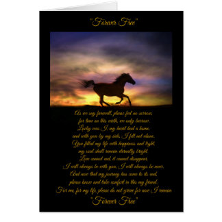 Horse Sympathy Card with Original Poem, Loss