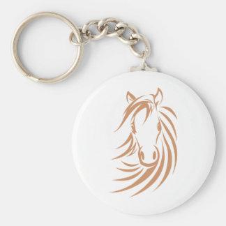 Horse T-shirts, Shirts and Custom Horse Clothing Basic Round Button Key Ring