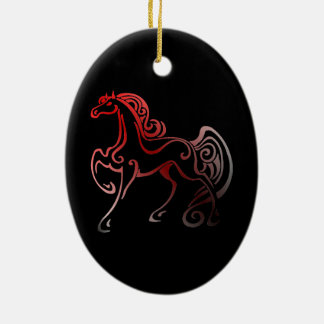 Horse Tails Christmas Ornament