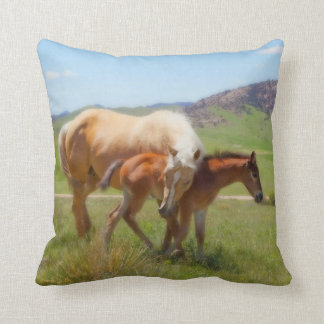 Horse Throw Pillow by Amanda Smith Wyoming Photo