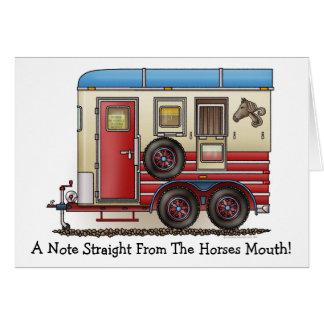 Horse Trailer Camper Card
