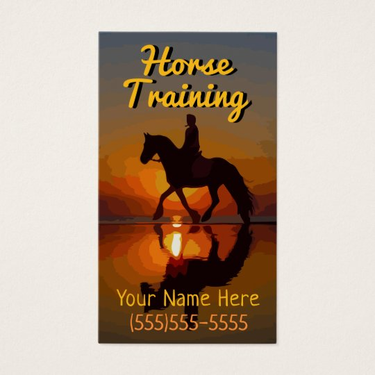 Horse Training. Equine Dentist. Equine Veterinary Business Card