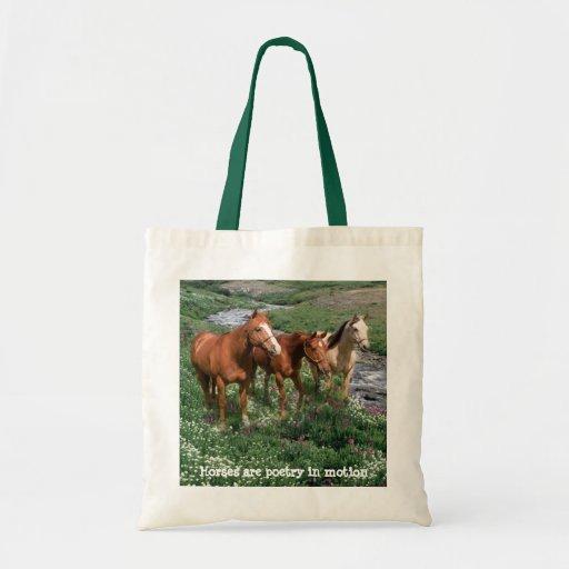 Horse Trio Tote Bag