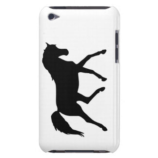 Horse trotting silhouette ipod touch 4G case Barely There iPod Cases