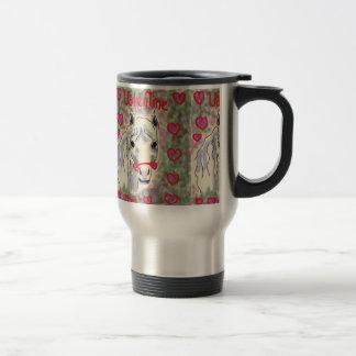 Horse valentines coffee mug