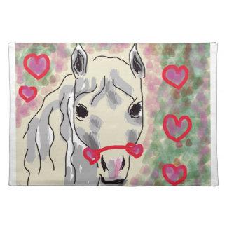 Horse valentines place mat