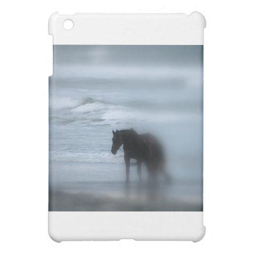 Horse walking the beach Newport Rhode Island Cover For The iPad Mini