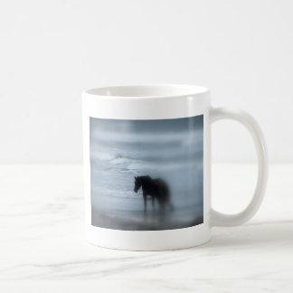 Horse walking the beach Newport Rhode Island Mug
