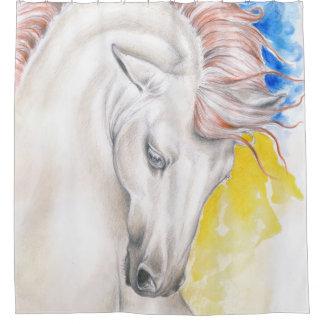 Horse Watercolor Art Shower Curtain