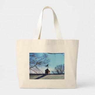 Horse Weather Vane Blue Sky Canvas Bags